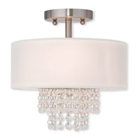 Carlisle 2 Light 11 inch Brushed Nickel Flush Mount Ceiling Light
