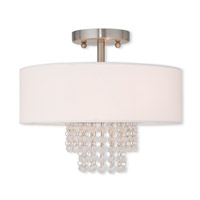 Carlisle 2 Light 13 inch Brushed Nickel Flush Mount Ceiling Light
