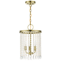 Livex 51060-01 Elizabeth 3 Light 11 inch Antique Brass Pendant Chandelier Ceiling Light