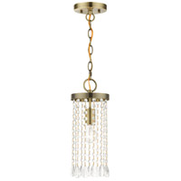 Livex 51062-01 Elizabeth 1 Light 6 inch Antique Brass Mini Pendant Ceiling Light