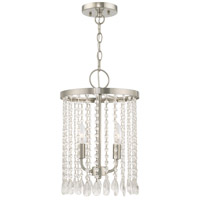 Livex 51063-91 Elizabeth 2 Light 11 inch Brushed Nickel Mini Pendant Ceiling Light