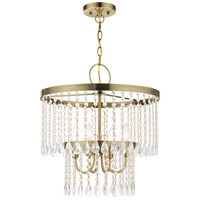 Livex 51064-01 Elizabeth 4 Light 18 inch Antique Brass Pendant Chandelier Ceiling Light