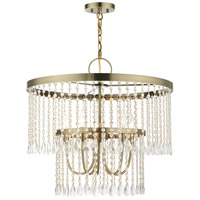 Livex 51065-01 Elizabeth 5 Light 24 inch Antique Brass Pendant Chandelier Ceiling Light