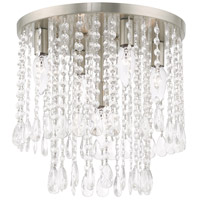 Livex 51068-91 Elizabeth 5 Light 14 inch Brushed Nickel Flush Mount Ceiling Light