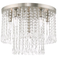 Livex 51069-91 Elizabeth 6 Light 18 inch Brushed Nickel Flush Mount Ceiling Light