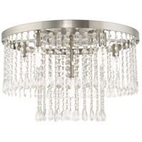 Livex 51070-91 Elizabeth 6 Light 22 inch Brushed Nickel Flush Mount Ceiling Light