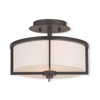 Livex Lighting Wesley 2 Light Flush Mount in Bronze 51072-07
