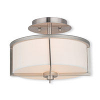 Livex Lighting Wesley 2 Light Flush Mount in Brushed Nickel 51072-91