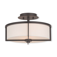 Livex 51073-07 Wesley 2 Light 13 inch Bronze Flush Mount Ceiling Light