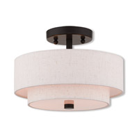 Livex 51082-92 Claremont 2 Light 11 inch English Bronze Semi Flush Mount Ceiling Light