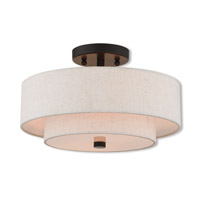 Livex 51083-92 Claremont 2 Light 13 inch English Bronze Semi Flush Mount Ceiling Light