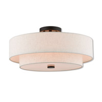 Claremont 4 Light 18 inch English Bronze Semi Flush Mount Ceiling Light