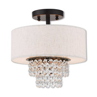Livex 51094-92 Carlisle 2 Light 11 inch English Bronze Semi Flush Mount Ceiling Light