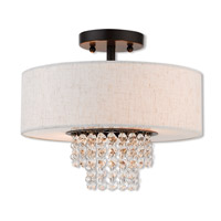 Livex 51095-92 Carlisle 2 Light 13 inch English Bronze Semi Flush Mount Ceiling Light