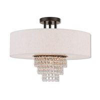 Livex 51097-92 Carlisle 4 Light 18 inch English Bronze Semi Flush Mount Ceiling Light