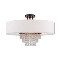 Livex 51098-92 Carlisle 5 Light 22 inch English Bronze Semi Flush Mount Ceiling Light