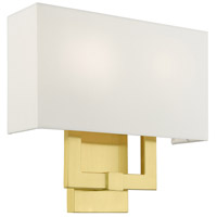 Livex Lighting 51103-12 Meridian 2 Light 13 inch Satin Brass ADA ADA Sconce Wall Light