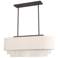 Livex 51123-92 Carlisle 3 Light 31 inch English Bronze Linear Chandelier Ceiling Light