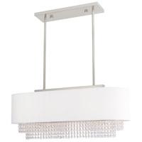 Livex 51124-91 Carlisle 3 Light 31 inch Brushed Nickel Linear Chandelier Ceiling Light