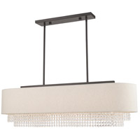 Livex 51125-92 Carlisle 5 Light 41 inch English Bronze Linear Chandelier Ceiling Light