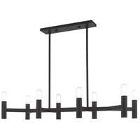 Livex 51138-04 Copenhagen 8 Light 40 inch Black Linear Chandelier Ceiling Light