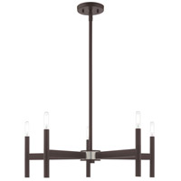 Livex 51175-07 Copenhagen 5 Light 25 inch Bronze Chandelier Ceiling Light