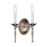 Livex Lighting Williamsburg 2 Light Wall Sconce in Antique Brass 5122-01
