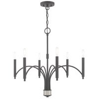 Livex 51336-76 Wisteria 6 Light 26 inch Scandinavian Gray Chandelier Ceiling Light