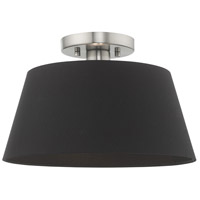 Livex 51352-91 Belclaire 1 Light 13 inch Brushed Nickel Flush Mount Ceiling Light