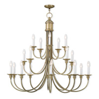 Livex Lighting Cranford 20 Light Foyer Light in Antique Brass 5140-01