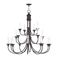 Livex Lighting Cranford 20 Light Chandelier in Olde Bronze 5140-67