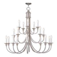 Livex Lighting Cranford 20 Light Foyer Light in Brushed Nickel 5140-91