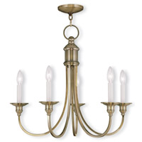 Livex Lighting Cranford 5 Light Chandelier in Antique Brass 5145-01 photo thumbnail