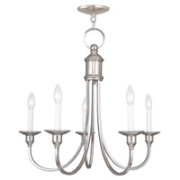 Livex Lighting Cranford 5 Light Chandelier in Polished Nickel 5145-35