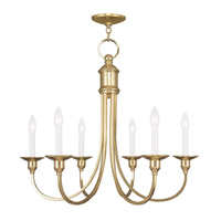 Livex Lighting Cranford 6 Light Chandelier in Polished Brass 5146-02