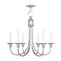 Livex Lighting Cranford 6 Light Chandelier in Polished Nickel 5146-35