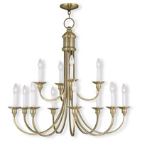 Cranford 12 Light 34 inch Antique Brass Chandelier Ceiling Light