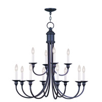 Livex Lighting Cranford 12 Light Chandelier in Olde Bronze 5149-67