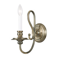 Livex Lighting Caldwell 1 Light Wall Sconce in Antique Brass 5161-01