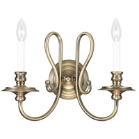 Livex Lighting Caldwell 2 Light Wall Sconce in Antique Brass 5162-01