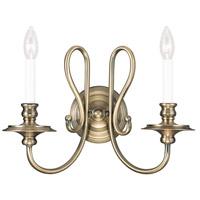 Livex 5162-01 Caldwell 2 Light 16 inch Antique Brass Wall Sconce Wall Light