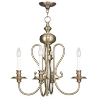 Livex 5164-01 Caldwell 4 Light 22 inch Antique Brass Chandelier Ceiling Light