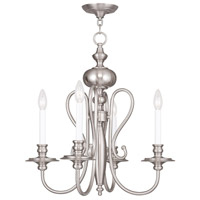 Livex Lighting Caldwell 4 Light Chandelier in Brushed Nickel 5164-91