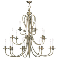 Livex 5179-01 Caldwell 18 Light 46 inch Antique Brass Chandelier Ceiling Light