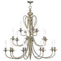 Livex Lighting 5179-01 Caldwell 18 Light 46 inch Antique Brass Chandelier Ceiling Light