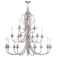 Livex 5179-91 Caldwell 18 Light 46 inch Brushed Nickel Chandelier Ceiling Light