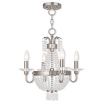 Valentina 4 Light 18 inch Brushed Nickel Convertible Mini Chandelier Ceiling Light