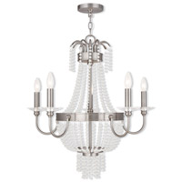 Livex Lighting Valentina 5 Light Chandelier in Brushed Nickel 51845-91