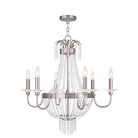 Valentina 6 Light 28 inch Brushed Nickel Chandelier Ceiling Light