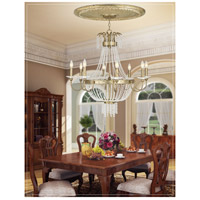 Livex 51848-28 Valentina 8 Light 32 inch Hand Applied Winter Gold Chandelier Ceiling Light